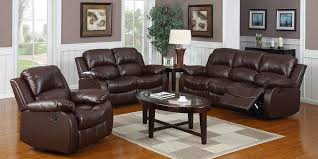 Brown Leather Recliner Sofas High Quality Design Of Brown Leather Recliner Sofa Set 2018