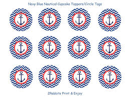 nautical cake toppers nautical themed party cupcake toppers gift tags printable