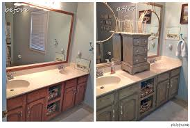 How To Redo Bathroom Cabinets Painting Bathroom Vanity Before And After My Painted Bathroom