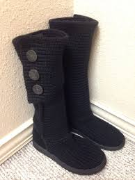womens kensington ugg boots size 9 australia cardy black knit sweater boot size 9