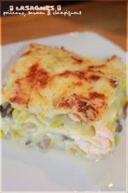 brouillon de cuisine lasagnes au saumon poireaux chignons béchamel légère
