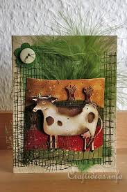 free card craft craft a primitive and country cow card