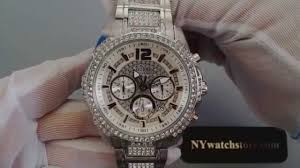guess stainless steel bracelet images Men 39 s guess chronograph crystallized stainless steel watch u0291g1 jpg