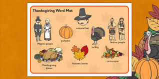 word mat mats words literacy thanks giving