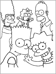 free coloring pages of graffiti simpsons 19760 bestofcoloring com
