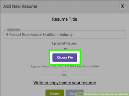 Post Your Resume How To Post Your Resume On Monster 15 Steps With Pictures