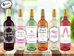 wine bottle favors bachelorette wedding wine bottle labels 4 x 5 6