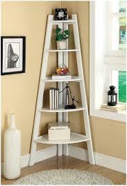 swish black painted corner ladder shelf as display storage as well