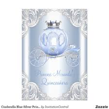 cinderella quinceanera ideas cinderella blue silver princess quinceanera card princess sweet