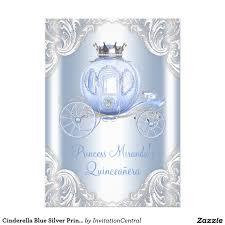 cinderella quinceanera theme cinderella blue silver princess quinceanera card kids birthday