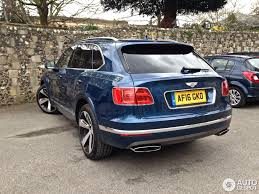 blue bentley 2016 bentley bentayga 18 april 2016 autogespot