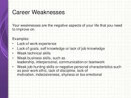 examples of employee weaknesses