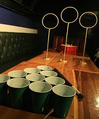 quidditch pong harry potter fans beer drinking game