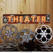 Metal Signs Home Decor by Home Theatre Decor At Retroplanet Com