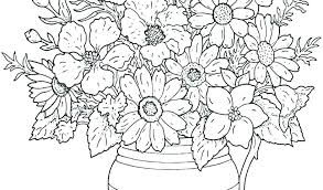 printable coloring pages of pretty flowers printable coloring pages of flowers coloring pages for children