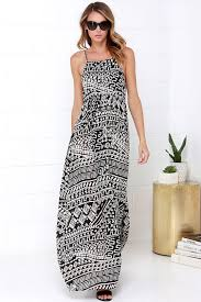 tribal dress cool black print maxi dress print dress tribal print dress