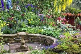 Raised Rock Garden Beds Raised Rock Garden Colorful Mixed Perennial Flower Garden With