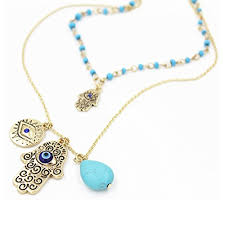 eye charm necklace images Onairmall womens hamsa necklace fatima hand of god lucky evil eye jpg