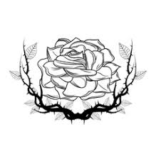 rose with wings tattoo art design royalty free vector image