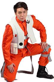 poe dameron costume jumpsuit star wars vii movie cosplay