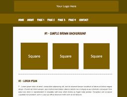 free website templates dreamweaver basic html templates simple brown template