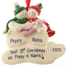 grandparent christmas ornaments grandparents christmas personalized ornament baby girl