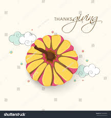 happy thanksgiving day celebrations pumpkin on stock vector