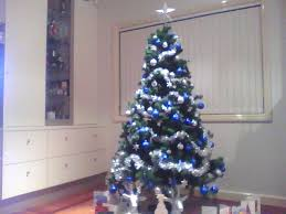 Blue And Silver Christmas Tree - blue silver gold christmas tree rainforest islands ferry