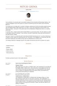 Sample Copy Editor Resume by Sports Editor Resume Samples Visualcv Resume Samples Database