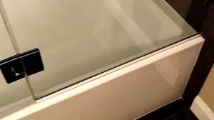 glass doors for tubs frameless shower door on tub by exceptional glass youtube