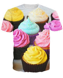 cupcake tops women men 3d fashion t shirt colorful fancy cupcakes t shirt