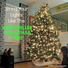 painted therapy string your lights like the rockefeller tree