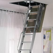 dimes l3 folding steel loft ladder 3 00m galvanised steel loft