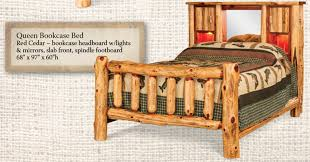 red cedar log captains bed from dutchcrafters amish furniture