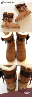 s ugg australia josette boots chestnut uggs rolled with winter boots for