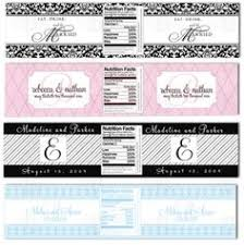 weddings water bottle labels scroll monogram w o quote