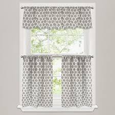 Kitchen And Bath Curtains by Morocco Window Curtain Tier Pair In Stone Bed Bath U0026 Beyond