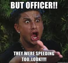 Speeding Meme - it rarely rains in la but when it rains it pours she bangs
