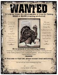 visiting teaching thanksgiving wanted poster invitation