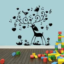 online get cheap musical wall decals baby aliexpress com wall stickers for kids rooms music notes deer wall decal poster removable vinyl stickers muraux baby