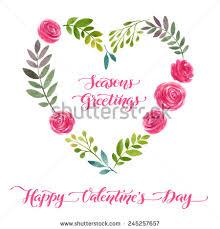 Design For Valentines Card Vector Illustration Flowers Frame Colorful Floral Stock Vector