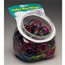 color key rings images Luckyline color split key rings 200 jar assorted colors jpg