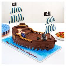 pirate ship cake easy entertaining captain pirate ship chocolate cake tesco