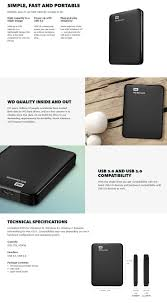 format wd elements external hard drive for mac wd elements 1tb usb 3 0 portable external hard drive wdbuzg0010bbk