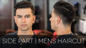 men u0027s haircut 2016 modern side part realbarbertv youtube