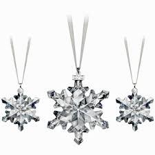 swarovski 2012 snowflake ornament set of 3 1139999