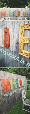best 25 fence decorations ideas on yard lighting