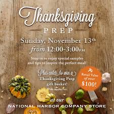 12pm stonewall kitchen s thanksgiving prep national harbor