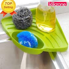 Klikzone Portable Kitchen Sink Corner Storage Rack Sponge Holder - Portable kitchen sink