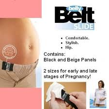 belly belt belly belt slide beige and black panels
